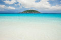 Similan islands tropical white sand beach with island thailand phuket Royalty Free Stock Photos