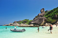 Similan phang nga thailand march hin rue bai landmark of island on march in phangnga province Royalty Free Stock Photo