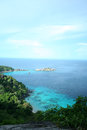 Similan viewpoint at eight island island thailand Stock Image