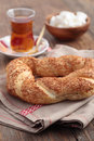 Simit and tea Stock Image