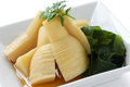 Simmered bamboo shoots Stock Images