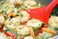 Simmering Shrimp Scampi Royalty Free Stock Photo