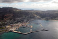 Simons town aerial view of on the cape peninsula near cape south africa Royalty Free Stock Photography