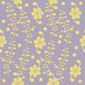 Simpl floral pattern Stock Images
