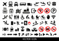 Simple airport icons set. Universal airport icons to use for web and mobile UI, set of basic UI airport elements Royalty Free Stock Photo