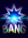Simple bang explosion vector illustration Stock Image