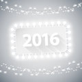Simple banner with christmas lights for your celebratory design Royalty Free Stock Photo