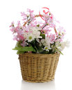 Simple Basket Of Flowers