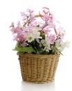 Simple Basket Of Flowers