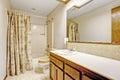 Simple bathroom interior in empty house
