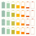 Simple Battery Life Icon Set Set Royalty Free Stock Photo