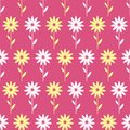 Simple and beauty flower seamless pattern vector illustration good for textile or paper wrapping print can be copied without any Stock Images