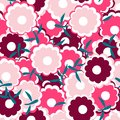 Simple and beauty flower seamless pattern vector illustration good for textile or paper wrapping print can be copied without any Royalty Free Stock Images