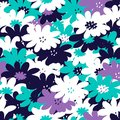 Simple and beauty flower seamless pattern vector illustration good for textile or paper wrapping print can be copied without any Stock Photos