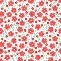 Simple and beauty flower seamless pattern vector illustration good for textile or paper wrapping print can be copied without any Stock Photo