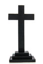 Simple black cross Royalty Free Stock Photo