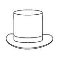 simple black tophat Royalty Free Stock Photo