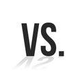Simple black vs icon with shadow