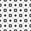 Simple black and white geometric seamless pattern