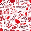 Simple blood vector icons seamless pattern