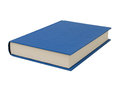 Simple blue hardcover book Royalty Free Stock Photos