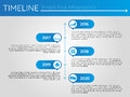 Simple blue timeline 12, infographics