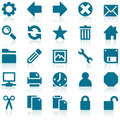 Simple blue web icon set Royalty Free Stock Photos