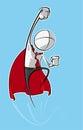 Simple Business People - Superhero Royalty Free Stock Photo