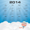 Simple calendar with beautiful sky background months of Stock Photo