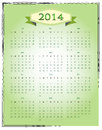 Simple calendar in green color Royalty Free Stock Photography