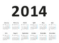 Simple calendar vector illustration Royalty Free Stock Images