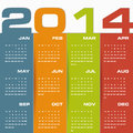 Simple calendar for your design Royalty Free Stock Photo