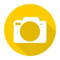 Simple Camera Icon with long shadow