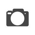 Simple Camera Icon on white background