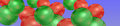 Simple christmas bauble banner timeline header smartphone or tablet pattern of colorful bright with red and green xmas balls Royalty Free Stock Photo