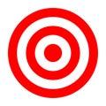Simple circle target template. Bullseye symbol Royalty Free Stock Photo