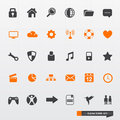 Simple & Clean Icon Set Royalty Free Stock Photography