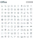 Simple and clean Vector line for Office icons set