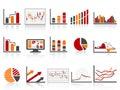 Jednoduchý barva finanční řízení zprávy ikona