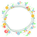 Simple colorful floral frame Stock Photos