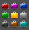 Suitcase icons Royalty Free Stock Photo