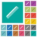 Simple comb square flat multi colored icons Royalty Free Stock Photo