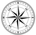 Simple compass rose Royalty Free Stock Photo