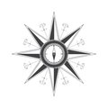 Simple compass rose wind rose in the style of historical maps clear shapes Stock Images