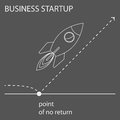 Simple contour graphic concept illustration created by the outline on the subject of business start up for use in design
