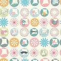 Simple and cute rounds motif pattern Stock Image