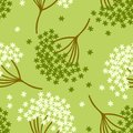 Simple cute seamless pattern with forget me not flower or myosotis flower on light green background Royalty Free Stock Photo