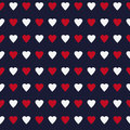 Simple and cute varicolored hearts seamless pattern. Vector illustration. Stylish Saint Valentine Day background.