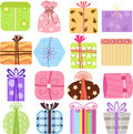 Simple and cute vector Icons: Gift Boxes /presents Royalty Free Stock Photos