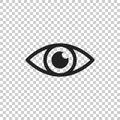 Simple eye icon vector. Eyesight pictogram in flat style